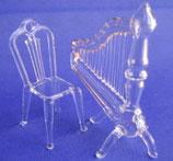 ハープと椅子のセット