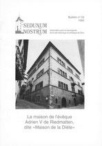 """Bull. no 53 - La maison de l'évêque Adrien V de Riedmatten dite """"Maison de la Diète"""""""