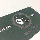 Luxus-Visitenkarte inkl. Lasergravur und Laserstanzung