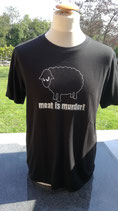 "T-Shirt ""meat is murder"""