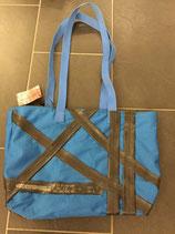 """Handtasche """"blaue Veloschläuche"""""""