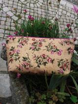 Pochette Zippée Fleurie parme