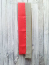 Écharpe Bicolore en Soie orange et vert