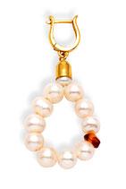 Sweet Amber Sunrise - Pearl Eardrops