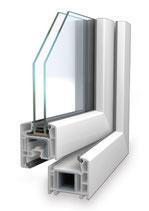 Balkontür 70mm 2-fach-verglast Weiß