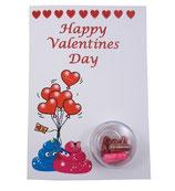 """Valentinskarte - """"Happy Valentine's Day"""""""