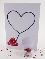 Valentinskarte - Blanko