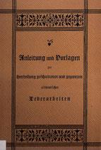 Anleitungen und Vorlagen zur Herstellung geschnittener und punzierter altdeutscher Lederarbeiten