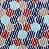 BW Muster Federkleid Blau und Rot