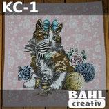 Motivplatte Katze