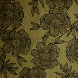 Viskose - Blumen auf grün