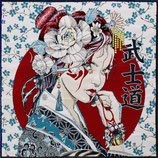Kissenplatte - Bushido - weiß