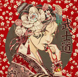Kissenplatte - Bushido - rot