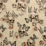 BW papillon et crâne