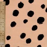Viskose - Pünktchen auf rosa