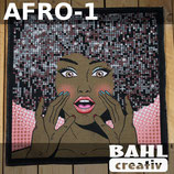 Motivplatte Afro