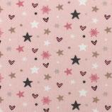 BW Sterne und Herzen auf Rosa