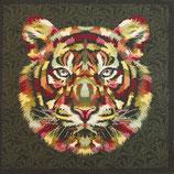 Kissenplatte - Tiger - grün