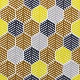 BW Muster Federkleid Gelb und Blau