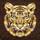 Kissenplatte - Tiger - braun