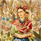 Kissenplatte - Frida und Äffchen - weiss