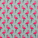 BW Motiv Flamingo auf Blau