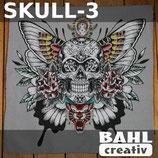 Kissenplatte Skull