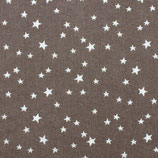 BW Sterne weiß auf graubraun