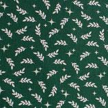 BW Weihnachtsstern und Olivenzweig - grün