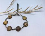 Bracelet Cabochon en métal couleur bronze