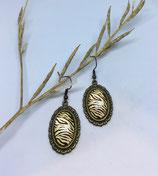 Boucles d'Oreilles Cabochon Bronze