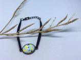 Bracelet Cabochon Bronze et Daim