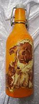 Bügelflasche mit Hund/Katze