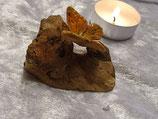 Holz mit Schmetterling orange