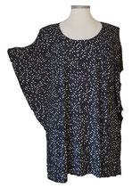 Summerfeeling Shirt New Designs Schwarz Weiß Pünktchen & Tupfen (SFS-677)