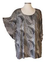 Summerfeeling Shirt New Designs Schwarz Weiß mit kleinen Blumen (SFS-684)