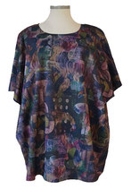 Nature Nights-Design ButterFly-Cut Poncho Pullover Violet (BB-20002) (L15)