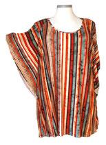 Summerfeeling Shirt New Designs Grün mit mehrfarbigen Längsstreifen (SFS-688)