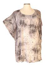 Summerfeeling Shirt New Designs Batik mit Pünktchen Grau & Hellgrau (SFS-642)