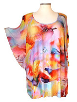 Summerfeeling Shirt New Designs Big-Happy-Colors Orange-Rot-Violet-Blau (SFS-676)