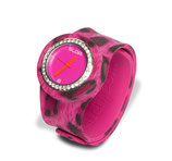 Slapwatch Uhr Pink Leopard Bling