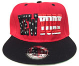 Snapback Cap New York rot-schwarz
