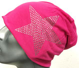 Jersey Beanie pink mit Stern