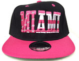 Snapback Cap Miami schwarz-pink