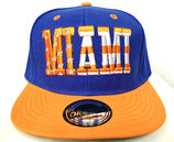 Snapback Cap Miami blau-orange