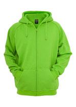 Urban Classics Zip Hoody limegreen neongrün