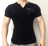 Poolman T-Shirt V-Neck schwarz