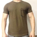 Poolman T-Shirt Rundhals Khaki