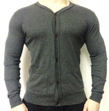 Boxfresh Strickjacke Pullover Sweater dunkelgrau