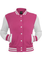 Urban Classics Collegejacke 2-tone weiß pink